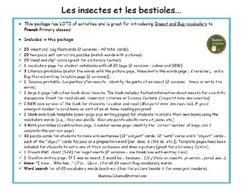Les insectes et les bestioles - French Bugs and Insects BUNDLE