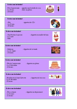 Les invitations / Invitations / Inviting people