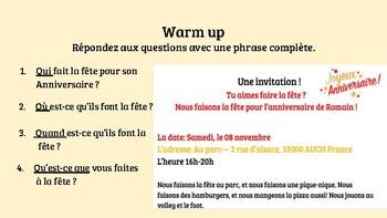 Les Invitations Ppt By Mademoiselle Kel Teachers Pay Teachers