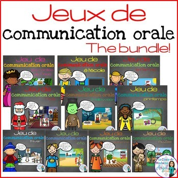 Les jeux de communication orale - French Oral Communication Games BUNDLE