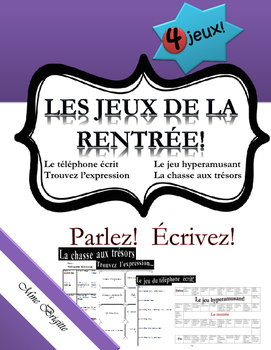 Les jeux de la rentrée - French Games for the first weeks of school and beyond!