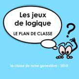 Les jeux de logique - LE PLAN DE CLASSE
