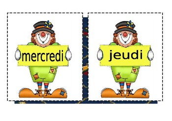 Les jours / Les mois / The days of the week / The months of the year