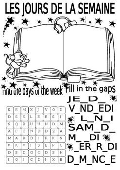Les jours de le semaine / The days of the week
