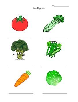 Les legumes (vegetables)