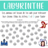 Les lettres B et D: Labyrinthes