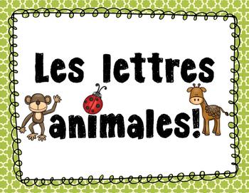 Les lettres animales - Affiches