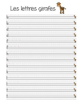 Les lettres animales - Cahier d'écriture