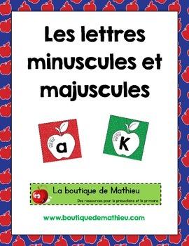 Les lettres minuscules et majuscules (thème : pommes)