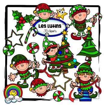 Les lutins (35 cliparts) christmas elves