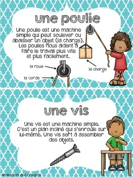 Les machines simples (simple machines) Science Posters (Movement)