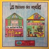 Les maisons des voyelles- FRENCH Phonic Student Work Bookl