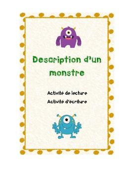 Description d'un monstre- Lecture & Écriture