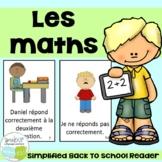 Les maths ~ French Back to School Reader {en français}