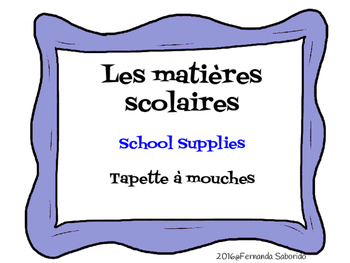 Les matières scolaires - School Subjects - French - Flyswatter / Hear and Circle