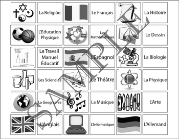 Les matieres scolaires/ The school subjects Flashcards