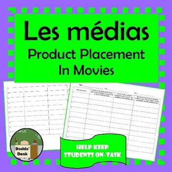 Les médias - movie review of product placement (French)