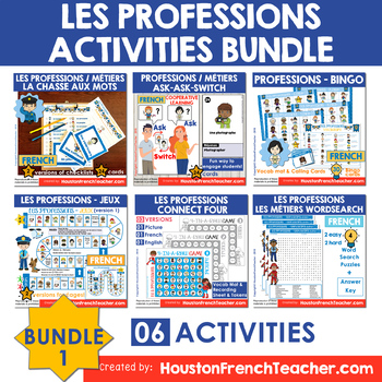 Les métiers (French Jobs) Les professions Activities - BUNDLE 1 (30%)