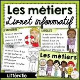 Les métiers - Livret de lecture informatif - French Reader on Community Helpers