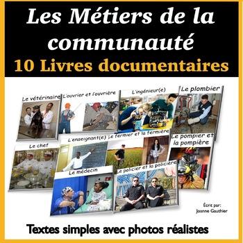 Une collection de livres documentaires sur les métiers de la communauté