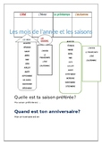 Les mois / Les saisons / Months of the Year / Seasons of the Year
