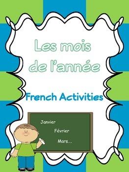 Les mois de l'année- French activities