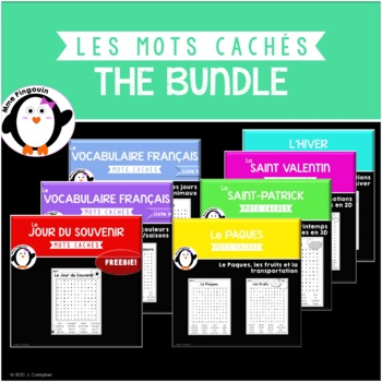 Les mots cachés - THE BUNDLE! {FRENCH}