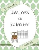Les mots du calendrier/Calendar words French - FREEBIE