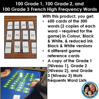 Les mots fréquents - French High Frequency Words -BUNDLE- Levels 1, 2 &3