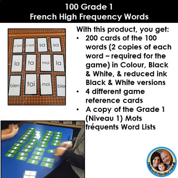 Les mots fréquents - French High Frequency Words - Level 1