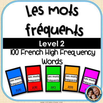 Les mots fréquents - French High Frequency Words - Level 2