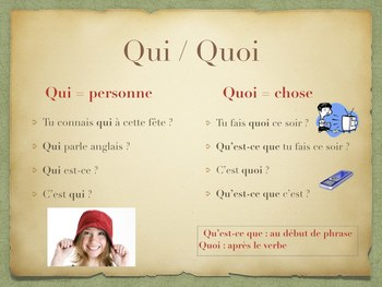 Les mots interrogatifs - SMART BOARD / POWER-POINT