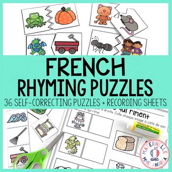 Les rimes - en casse-tête (FRENCH Rhyme Puzzles)
