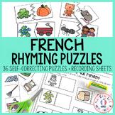 FRENCH Rhyming Puzzles - les rimes en casse-tête