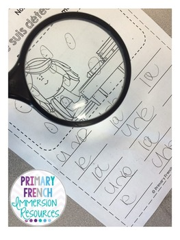 French sight word activities - Les mots usuels - volume 1