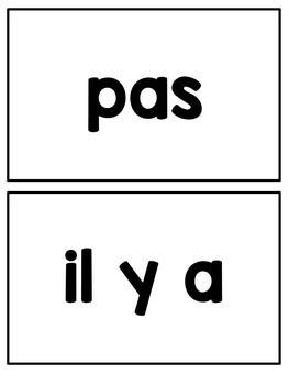 French sight word activities - Les mots usuels - volume 2