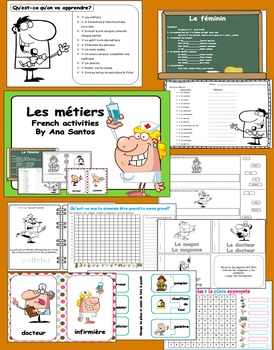 Les métiers- French activities