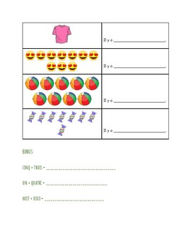 Les nombres 1-10 worksheet