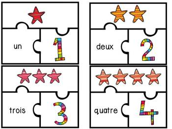 Nombres 1-20 - Puzzles - French Numbers