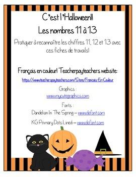 Les nombres 11 à 13 - C'est l'Halloween