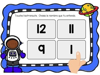 Les nombres:  Counting to 20 Digital Task Cards in French BUNDLE -  BOOM CARDS