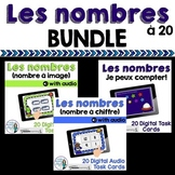 Les nombres:  French Counting to 20 Digital Task Cards BUN