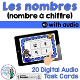 Les nombres:  French Counting to 20 Digital Task Cards with audio  BOOM CARDS