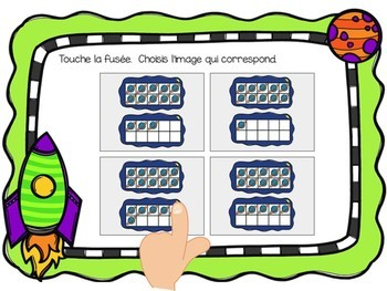 Les nombres:  Counting to 20 Digital Task Cards in French with audio  BOOM CARDS