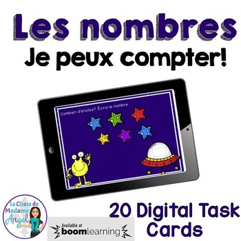 Les nombres à 20:  French Counting to 20 Digital Task Cards - BOOM CARDS