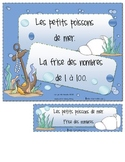 Les nombres dans la mer (math number activities)