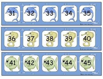 Les nombres dans la mer (math number activities)