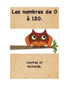 Les nombres de 0 à 120 : centres et activités.