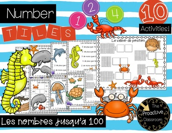 Les nombres jusqu'à 100 / French Number Tiles with Numbers to 100