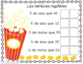 Les nombres jusqu'à 50 / French Number Tiles for Numbers to 50